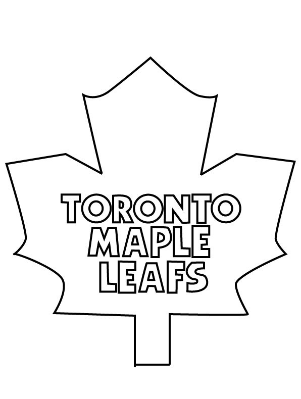 Toronto Maple Leafs coloring page