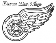 Detroit Red Wings coloring page