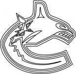 Vancouver Canucks logo coloring page