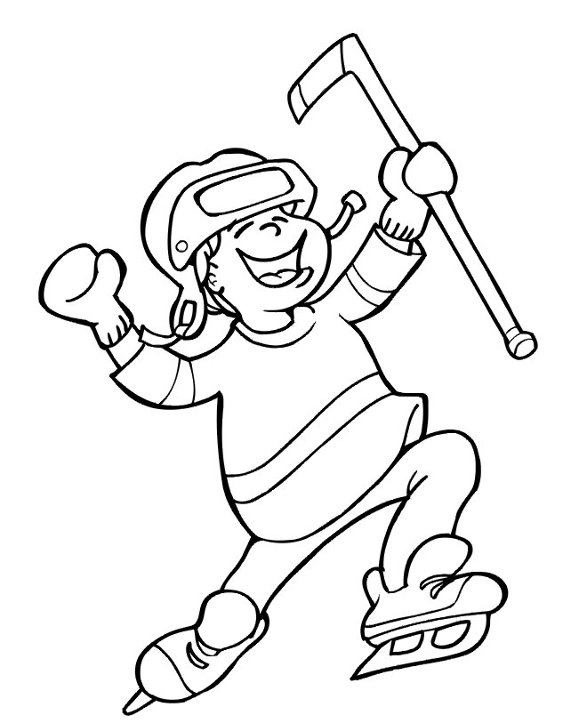 Hockey Coloring Pages Free - Printable Hockey Coloring Pages