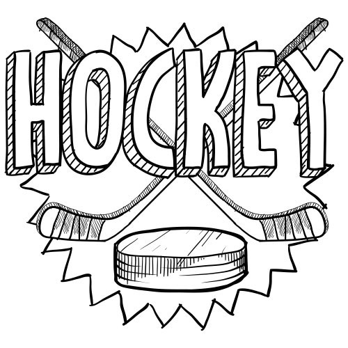 picture of hockey coloring page