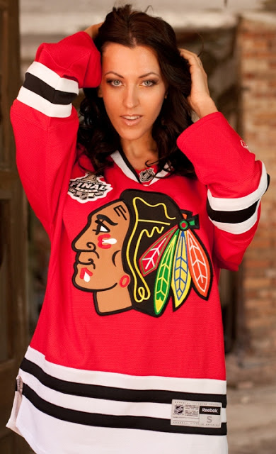 You have Girls in hockey jerseys for