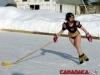 hockey babe on skates