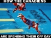 canadiens off day diving