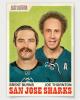 brent burns and joe thornton retro hockey card
