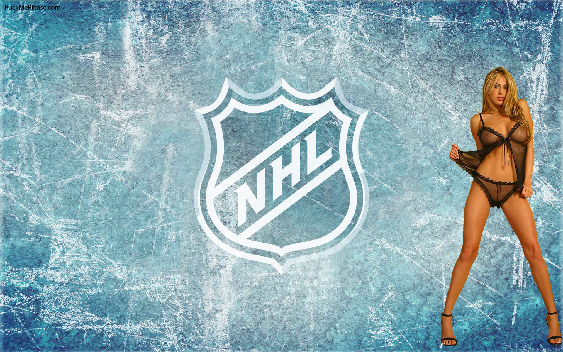 NHL Wallpaper with puck bunny