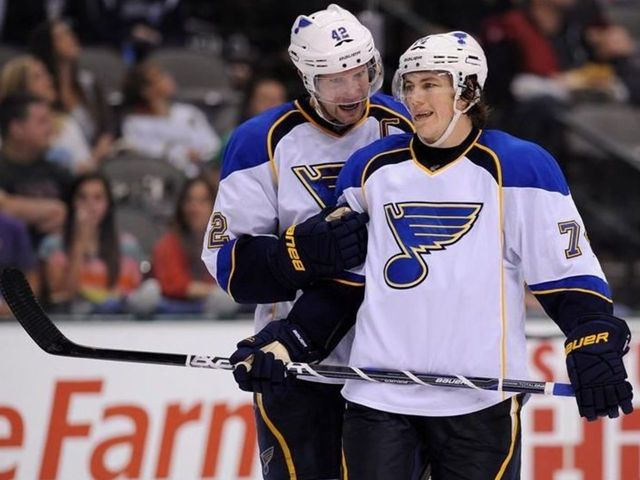 David Backes, T.J. Oshie