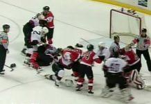 Philadelphia Flyers Ottawa Senators NHL Record Brawl