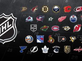NHL Teams for the 2019-2020 season