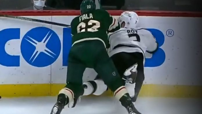 Will Kevin Fiala be suspended for his hit on Matt Roy? If so, how many games should he get?