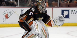 The Pittsburgh Penguins and Colorado Avalanche are showing interest in Anaheim Ducks goalie John Gibson.