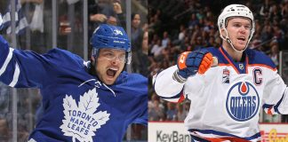 View the NHL player point predictions for the 2021-22 season. How many point will Connor McDavid get? How many goals will Auston Matthews score?