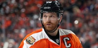 If the Philadelphia Flyers are out of a playoff position by the trade deadline, they could look at trading Claude Giroux.