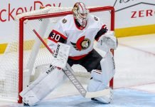 Ottawa Senators goalie Matt Murray is headed to the injured reserve with the head and neck injury he suffered against the New York Rangers.