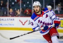 Mika Zibanejad has signed an eight-year, $68 million contract extension with the New York Rangers. His AVV will be $8.5 million.